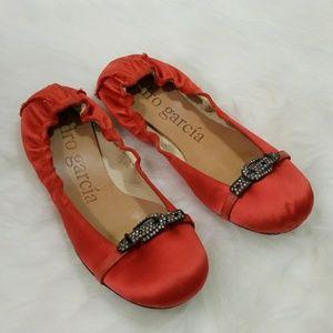 Pedro Garcia Orange Ballet Flats Size 36.5